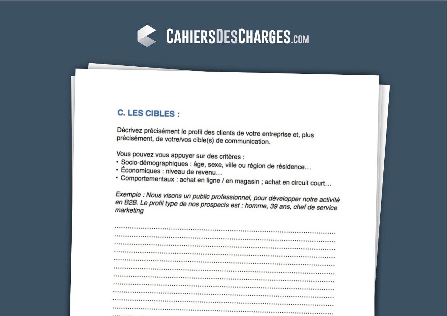cahier des charges communication